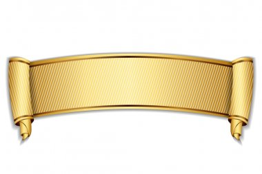 Vector illustration of gold scroll