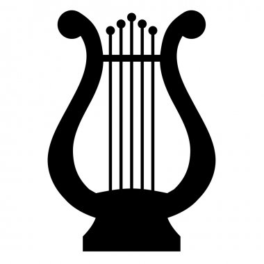 Vector illustration of lyre
