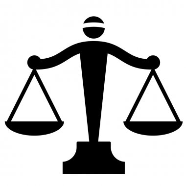 Vector icon of justice scales stock vector