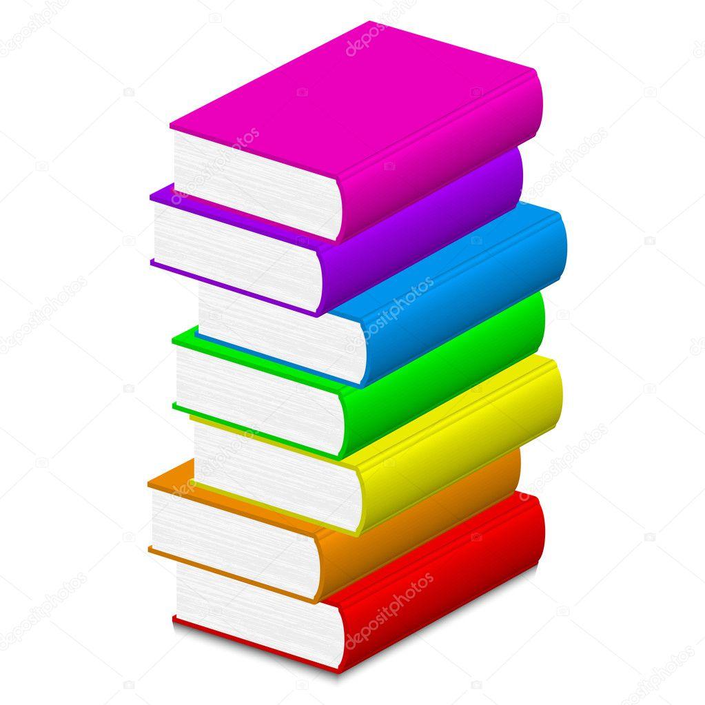 Vector ilustración de libros coloridos — Archivo Imágenes ...
