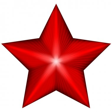 Vector illustration of red star
