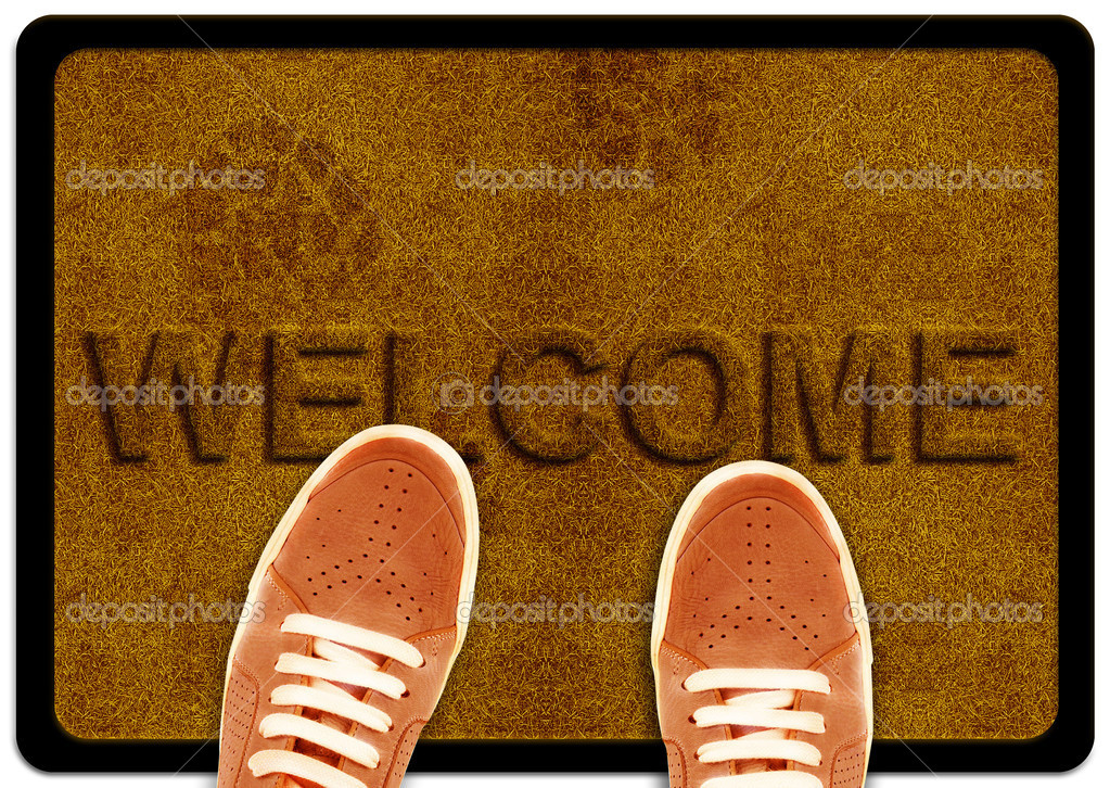 Welcome cleaning foot carpet Stock Photo designsstock 8074601