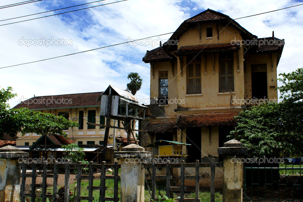 Old Colonial House In Kampot Town Cambodia South East Asia Stock Photo
