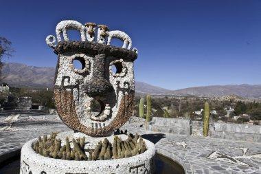 Pachamama monument in Valle de Calchaquies in North Argentina