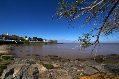 Rio de la Plata river in Colonia del Sacramento - Uruguay