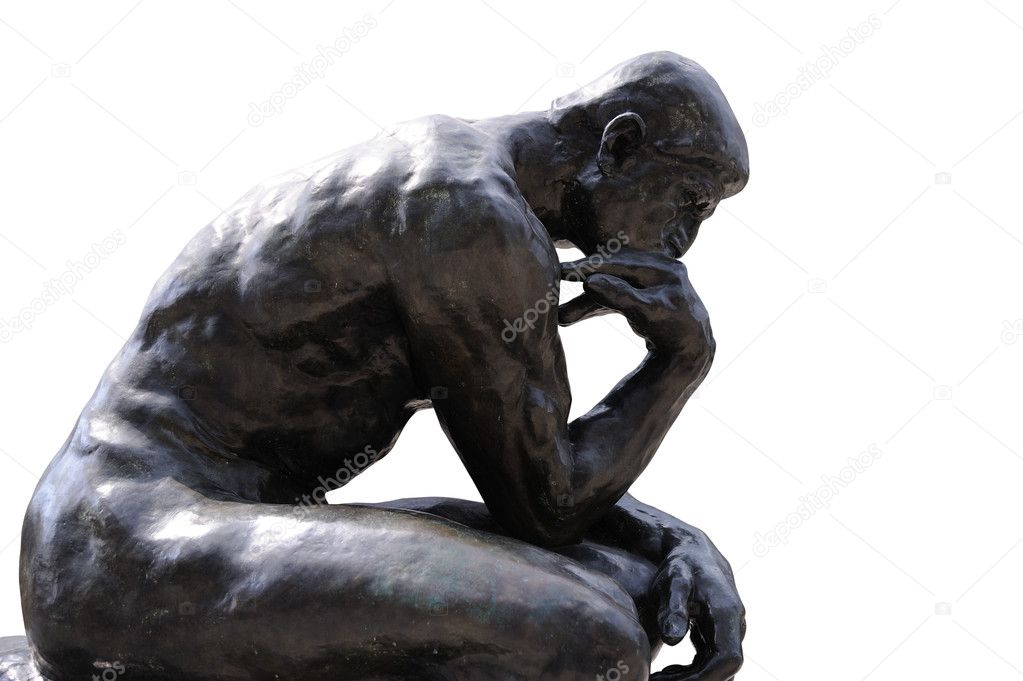 Thinker Statue Stock Photo 169 Tristantan71 9666377