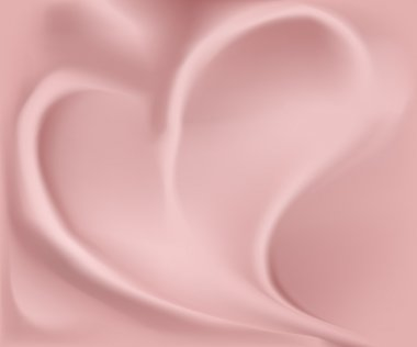 Romantic silk heart background vector clip art vector