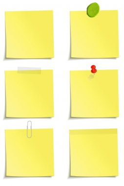 Set of yellow notes