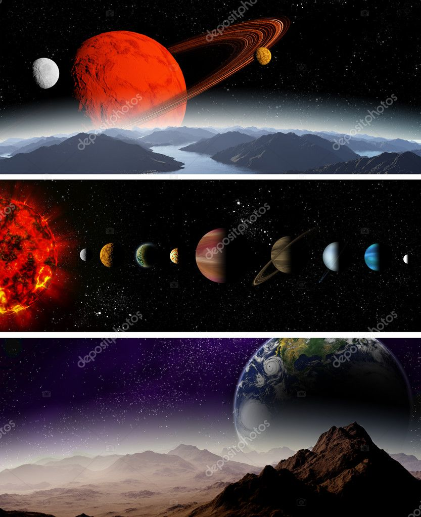 Illustrated Diagram Showing The Order Of Planets In Our Solar System Abstract Illustration Deep Space Photo By Mozzyb