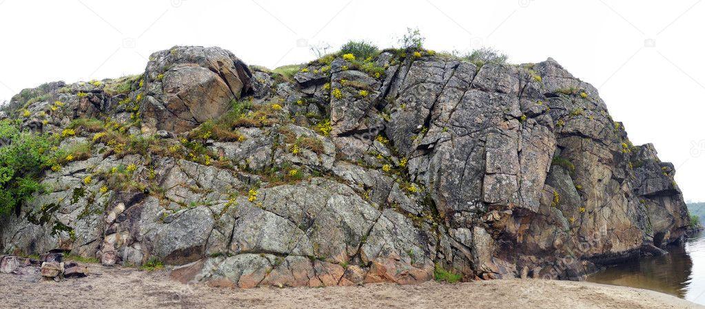 Textured cliff