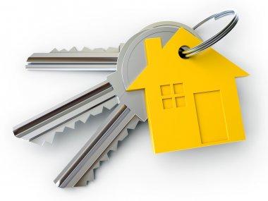 House key with charm