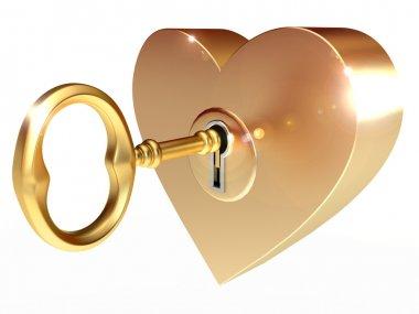 Golden key opens the heart