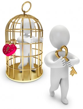 Man in a golden cage