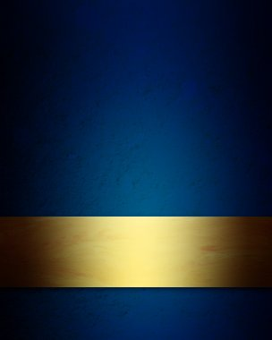 Elegant blue and gold Christmas background