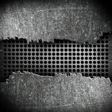 Crack metal background