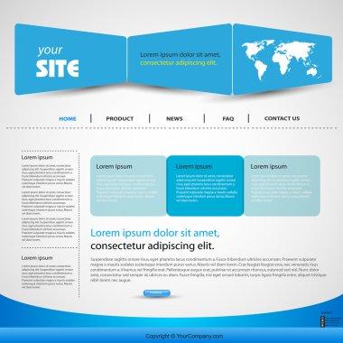 Web design vector blue template