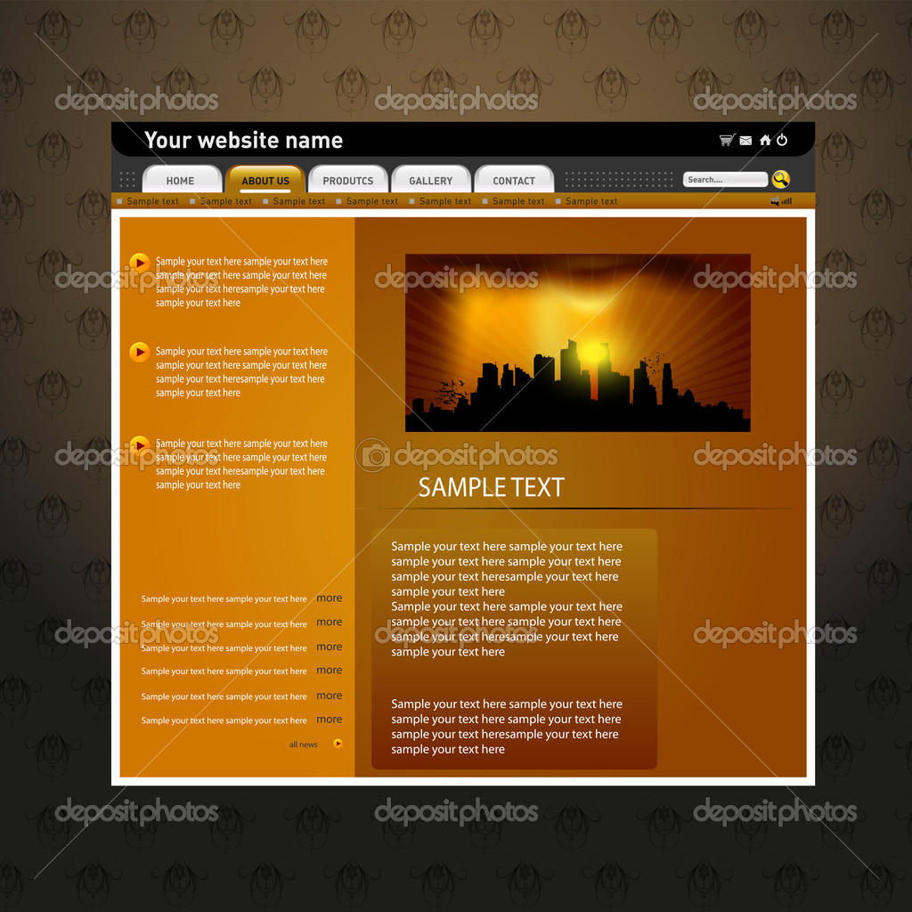 Web site design template, www template — Stock Vector © vectorguru ...