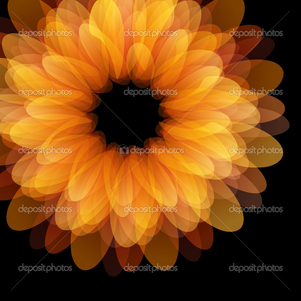 Abstract flower design background