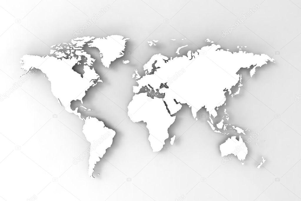 World Map 3d Render Stock Photo C Vectorguru 9178162