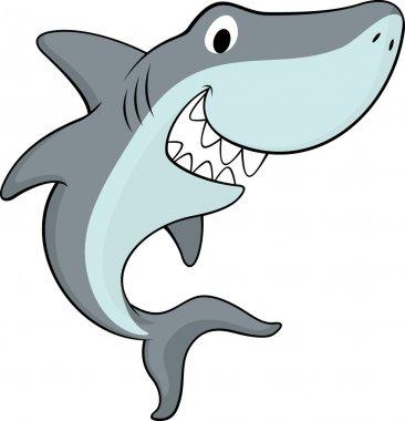 Happy friendly shark