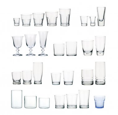 A set of glasses isolated on white background stock vector