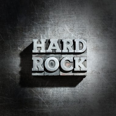 Metal HARD ROCK background : antique metal letter-press type.