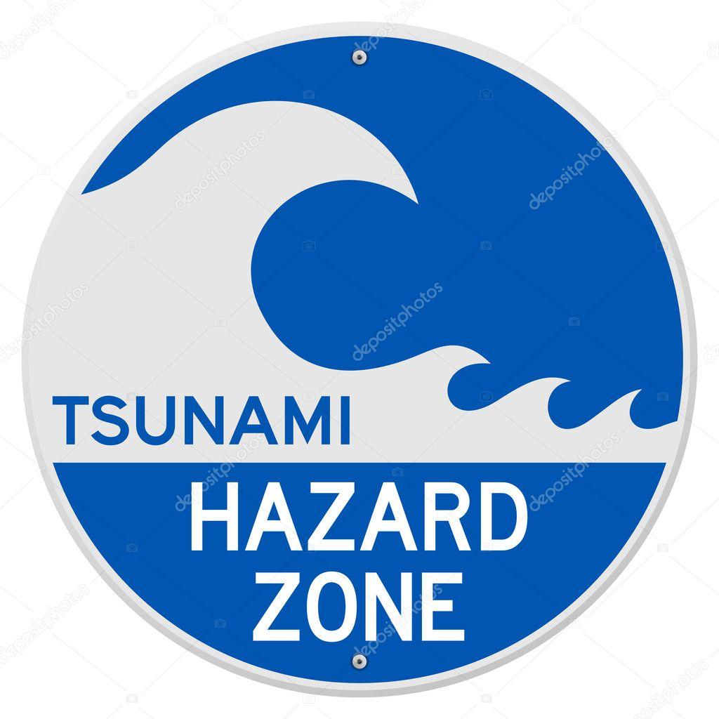 tsunami hazard zone stock vector zager 10588483