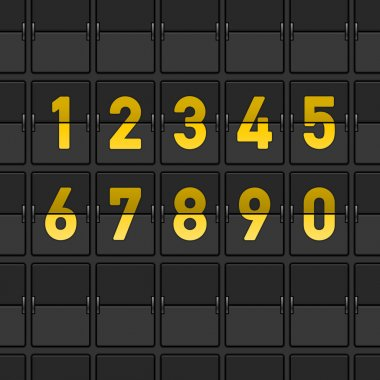 Airport Dashboard with Flipping Numbers