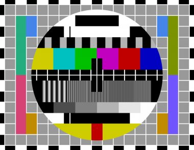 Classic pattern for testing TV signal quality in PAL television systems stock vector