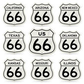 Fotografie kompletní route 66 známky kolekce