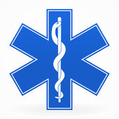 Photo Blue Medical Sign
