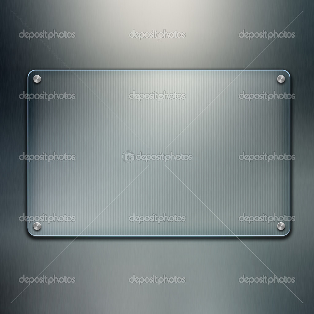Blank glass plate background