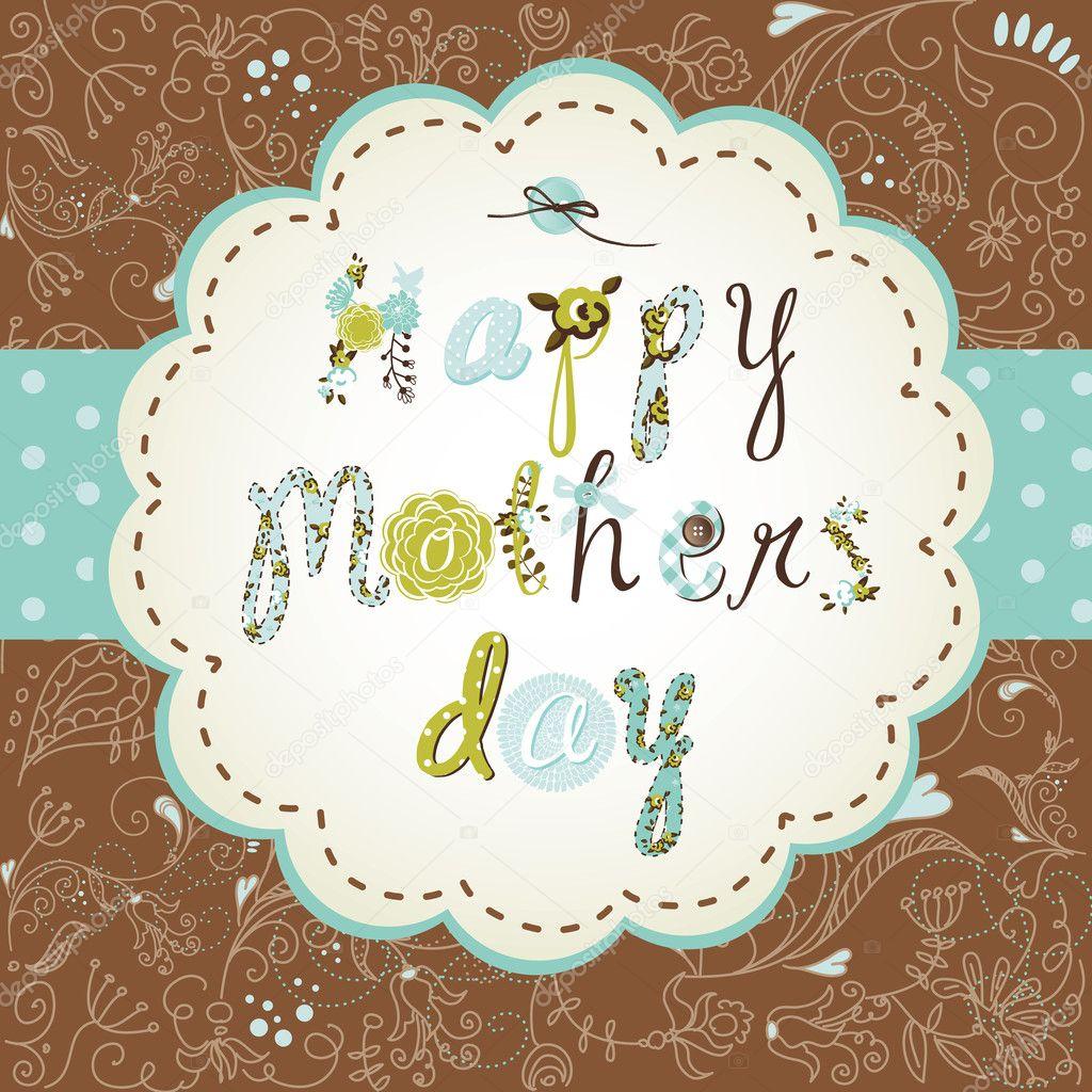 diseño de marco de plantilla para tarjeta de día de la madre ...