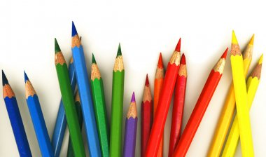 :Assortment of coloured pencils