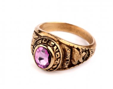 High school graduation class ring