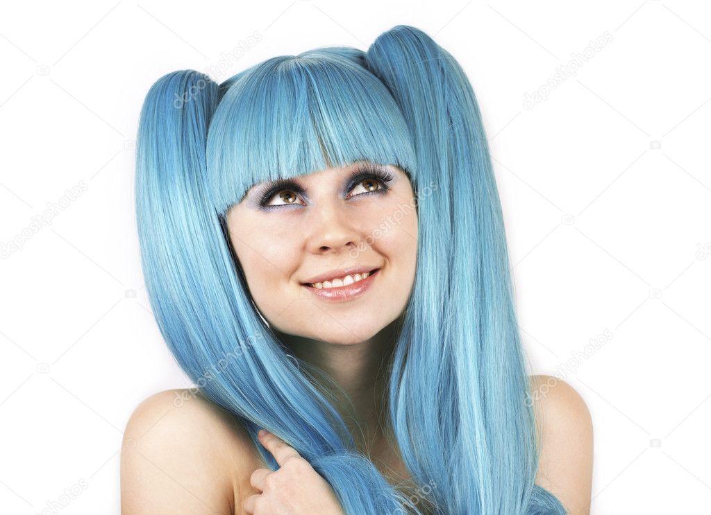 File Cyndi Blue Hair 2000 Jpg: Hübsche Frau Mit Blauen Haaren