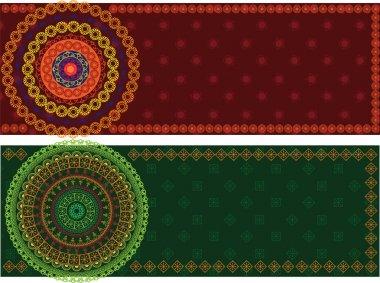 Colorful Henna Mandala Banners