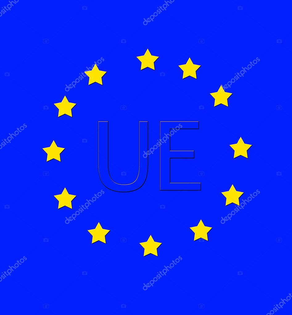 Flag UE. — Stock Photo © Stock...
