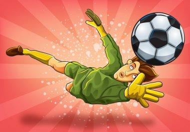 Goalkeeper Jump Catch a Ball