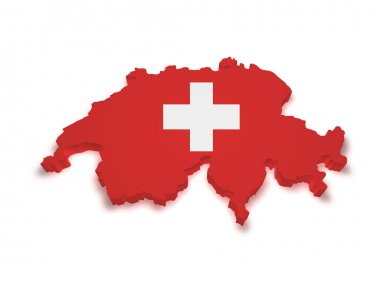 Switzerland Map 3d Shape