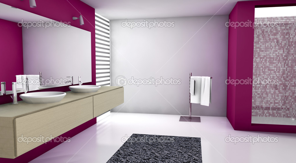 bagno rosso — Foto Stock © NiroDesign #9197613