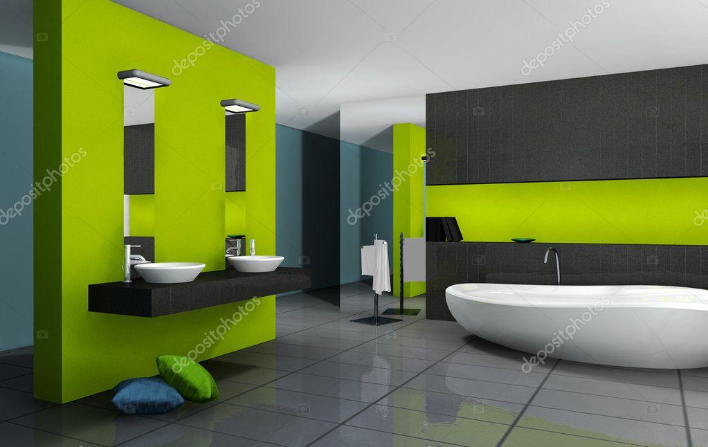 Grune Badezimmer Stockfoto C Nirodesign 9889453