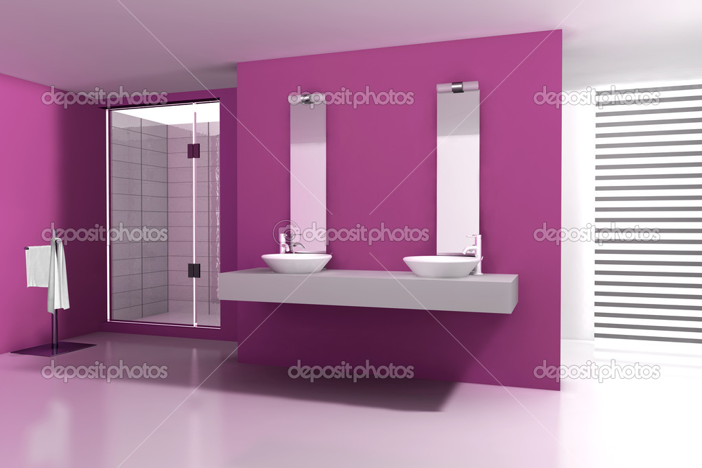 bagno rosa — Foto Stock © NiroDesign #9889473