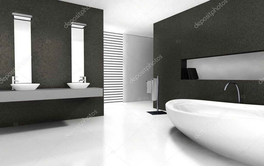 Badkamer design u stockfoto nirodesign