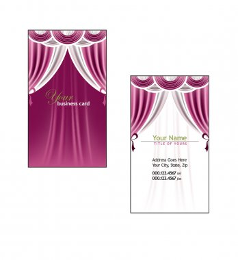 Business Card Template. Vector Eps10 Illustration.
