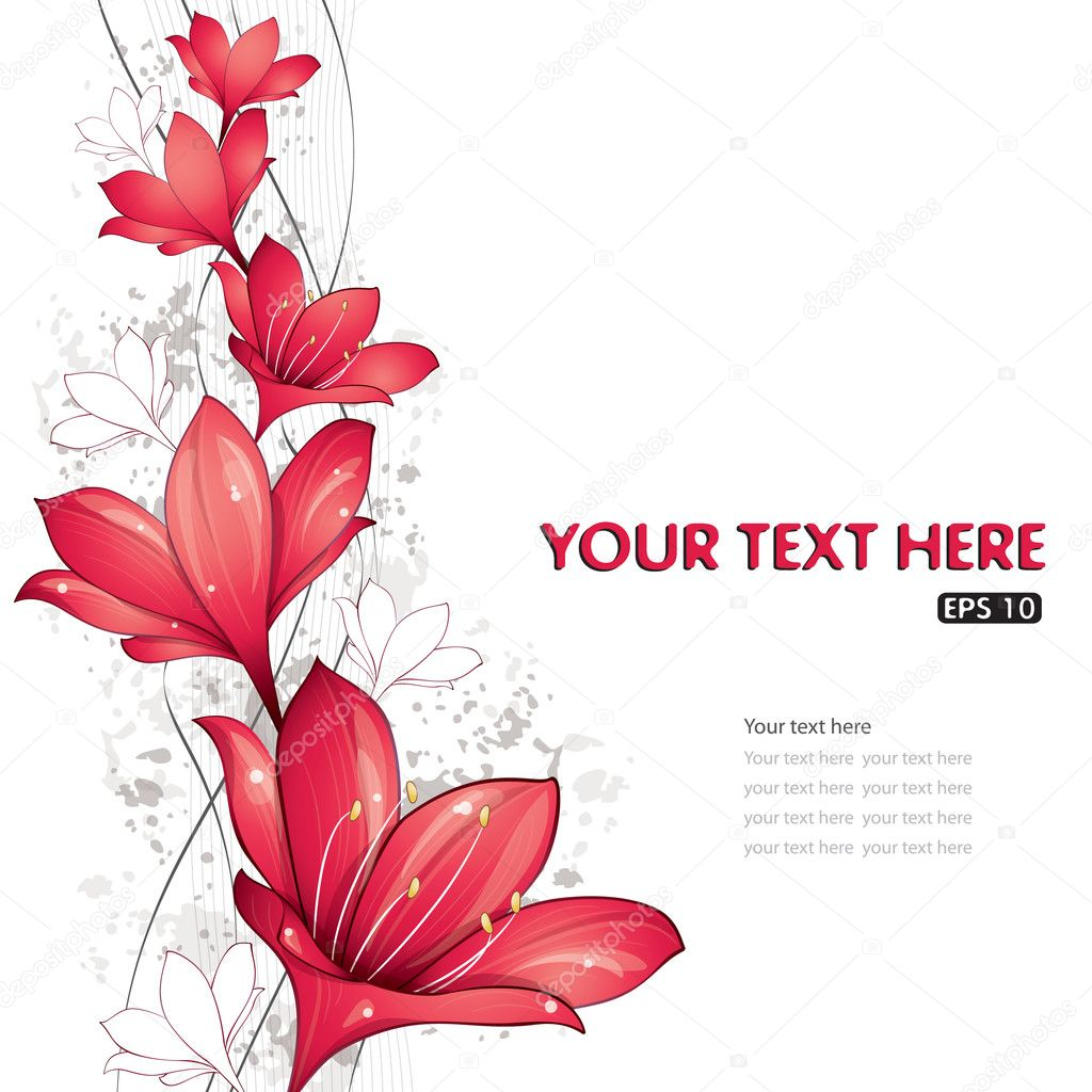 Red lilies design