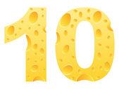 Fényképek száma tíz készült sajt
