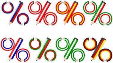 percent made of pencils