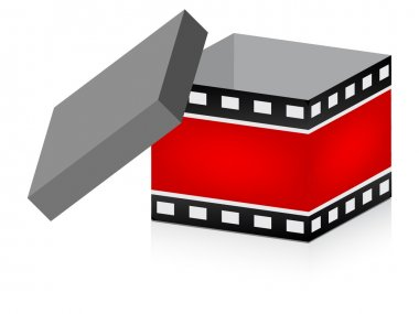 Open box with filmstripe texture