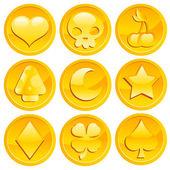 Fotografia gioco monete doro